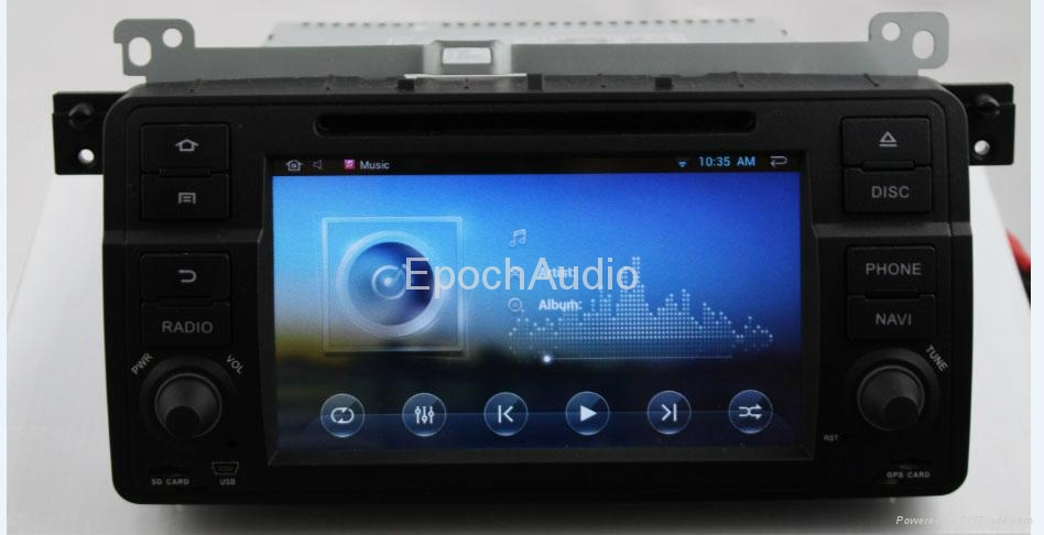 Car Pure android 4.2 os system For BMW E46 dvd player with gps navigation 1