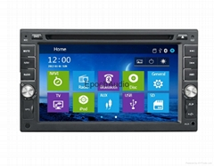 Wince system dvd player with gps navigation for most of the car