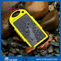 5000mAh Waterproof IPX4 Solar Charger for iPhone 6 plus