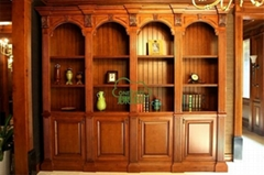 实木欧式书柜