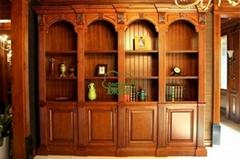 實木歐式書櫃