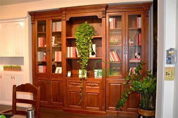 实木欧式书柜 2