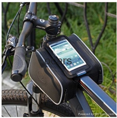 Cycling Bicycle Bike Bag Front Tube Bag Bike Saddle Bag for Smartphone 5.5 inch