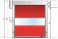 Good Quality High Speed Door With CE Certification  3