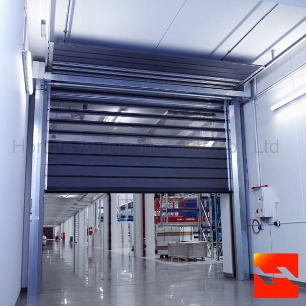 Aluminium Alloy High Speed Garage Door With CE Certification  1
