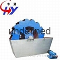 Round bucket sand washing machine