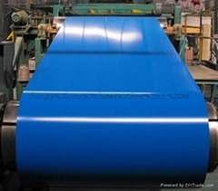 Prepainted galvanized color coated steel coil for making corrugated roofing