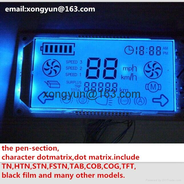 段碼液晶模組帶藍色背光 1