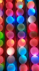 LED flashing golf ball