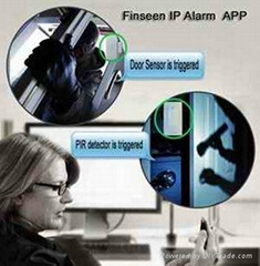 Smart burglar IP Cloud Alarm System with smart phone Android / IOS