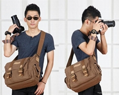 Coffee or Khaki Dslr Camera Shoulder Bag Backpack
