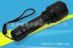 銷售新款t6強光充電手電筒