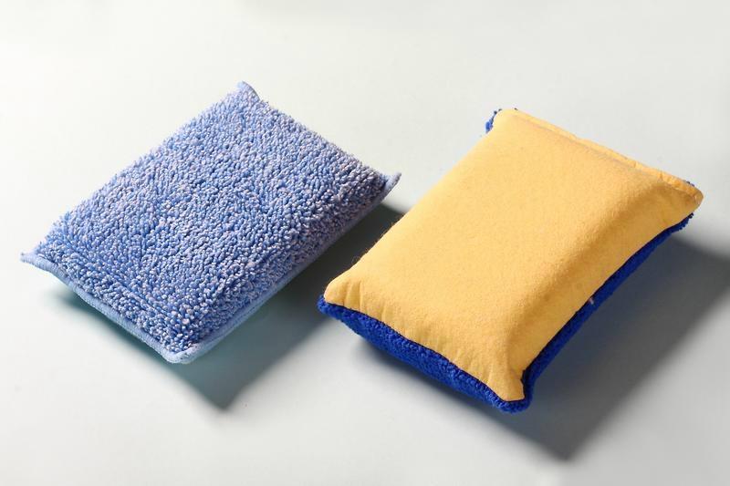 chamois microfiber kitchen cleaning sponge 1