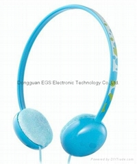 Candy color headphones for promotion