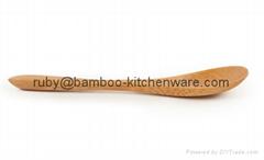 Kitchen Small Mini Wooden Bamboo Salt Long Spoon