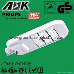 100W LED Street Lamp UL DLC Certificated Warranty 5 Years