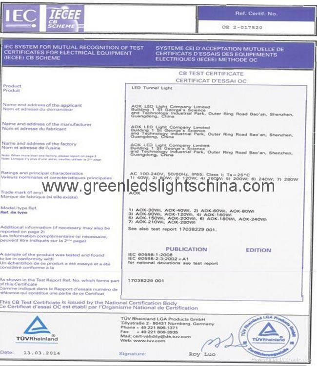 L70 62000Hrs Lifespan 80W Industrial LED High Bay Lamp 8