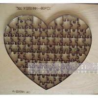 Heart Shape Puzzle die 300x260mm-80pcs 1