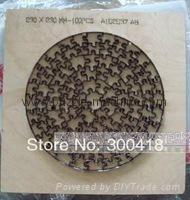 Roud shape Jigsaw puzzle die 230x230mm--100pcs