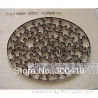 Oval shape jigsaw puzzle