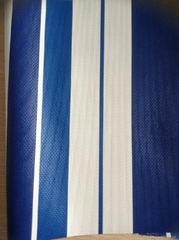 pvc laminated stripe tarpaulin