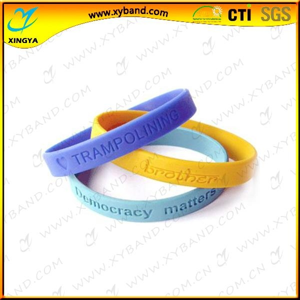 Promotional custom silicon wristband for sport 1