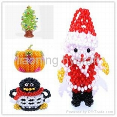 Halloween pumpkin decoration beaded doll handmade craft beaded pattern