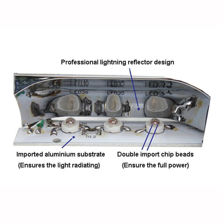 "36W 13"" Led Emergency Vehicle Warning Deck Dash Strobe Windshiled Dash Light 12V 4"