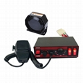 100W Wired Electronic Siren Bundle with Speaker Microphone 8 warning tones 12V 1