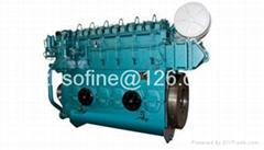 440kW 600PS 600HP weichai CW6200T marine diesel engines ship motors