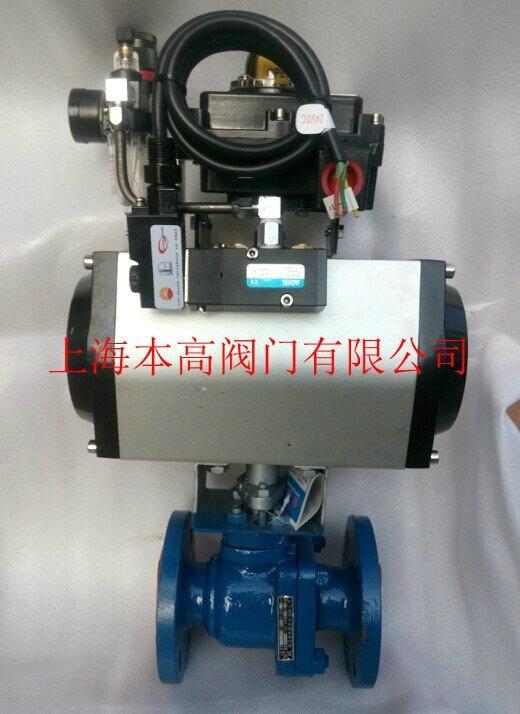 Q641F46-16C氣動法蘭襯氟球閥 1