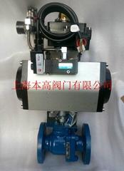 Q641F46-16C氣動法蘭襯氟球閥