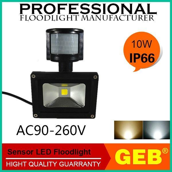 High Lumens PIR Motion Sensor Flood Light Waterproof CE RoHS 3