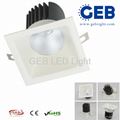 Square LED Recessed 8W 12W Downlight CE