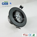 GEB® 3W  Recessed LED Ceiling Light  Dimmable CE ROHS 1