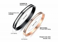Stainless steel Lovers bracelet