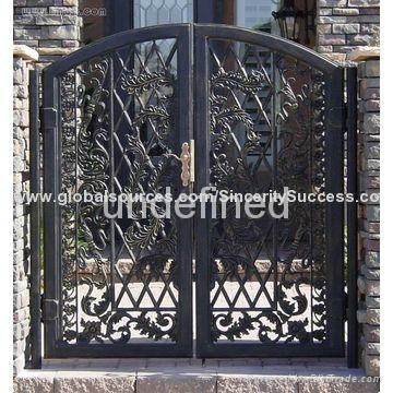 wrought iron handcrafted gates 1