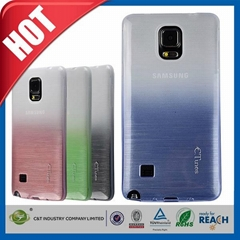 Mobile phone accessory soft gel back tpu slim case for galaxy note 4
