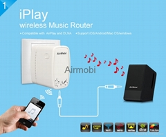 AirMobi usb 150Mbps Wireless Music Router with airplay dlan
