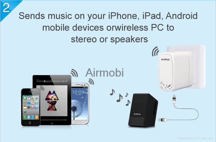AirMobi usb 150Mbps Wireless Music Router with airplay dlan 2