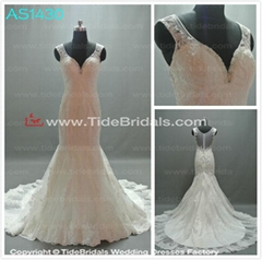 sweetheart lace appliques with train long chiffon wedding dresses