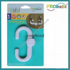 Baby Safety Slider Door  Lock/Cabinet Lock, Child Proofing Lock SL001