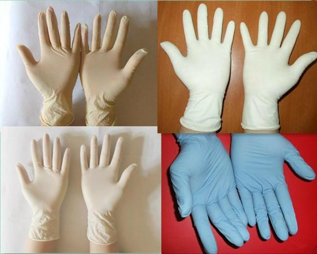 disposable latex exam gloves powder free 2