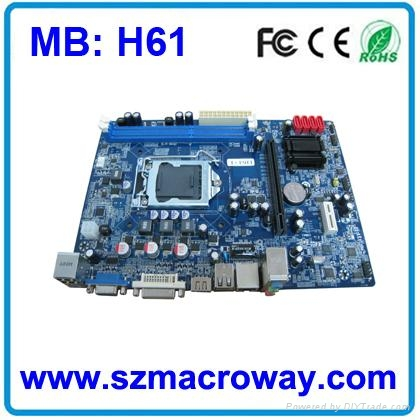 High quality computer motherboard h61 1155 motherboard 1