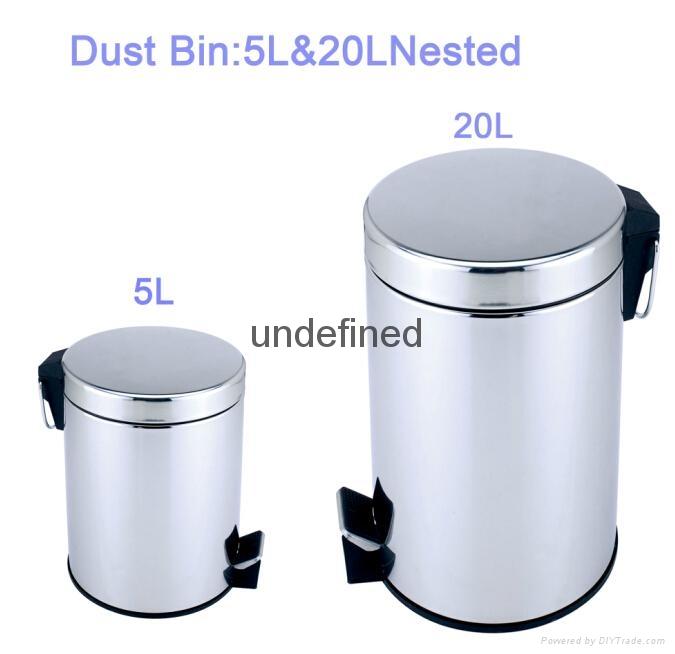 Stainless steel Pedal Bin 1
