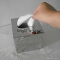 Stainless Steel Square Tissue Box Top Open 2