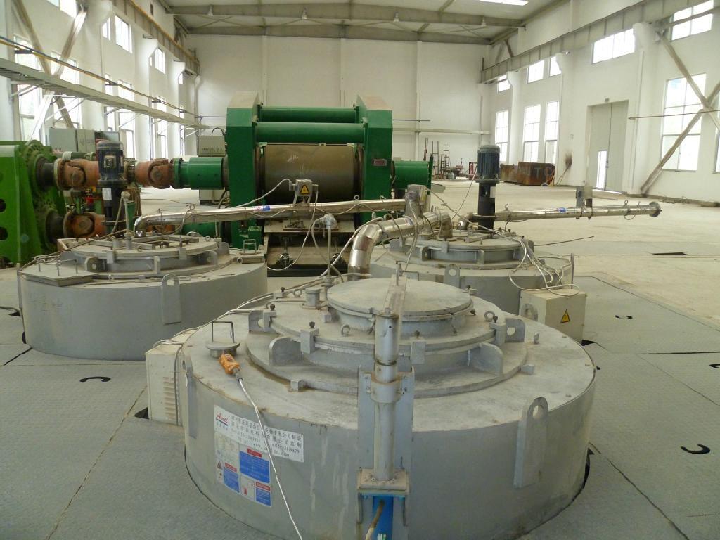 Magnesium alloy continuous casting machine 2