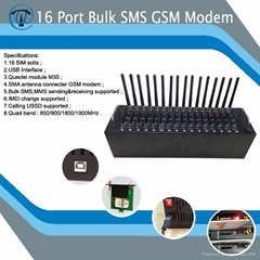 gsm modem 16 for bulk sms and mms with 16 sim cards
