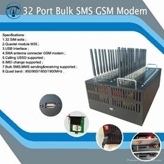 YX gsm modem 32 sim card slots support bulk sms and mms