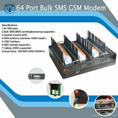 multi sim card gsm modem 64 port with good quality and low cost